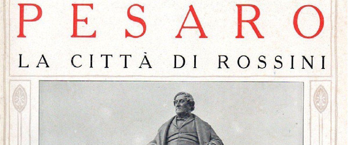 Il monumento a Gioachino Rossini sulla copertina de