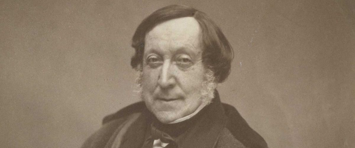 Gioachino Rossini ritratto da Nadar nel 1856 ((https://commons.wikimedia.org)